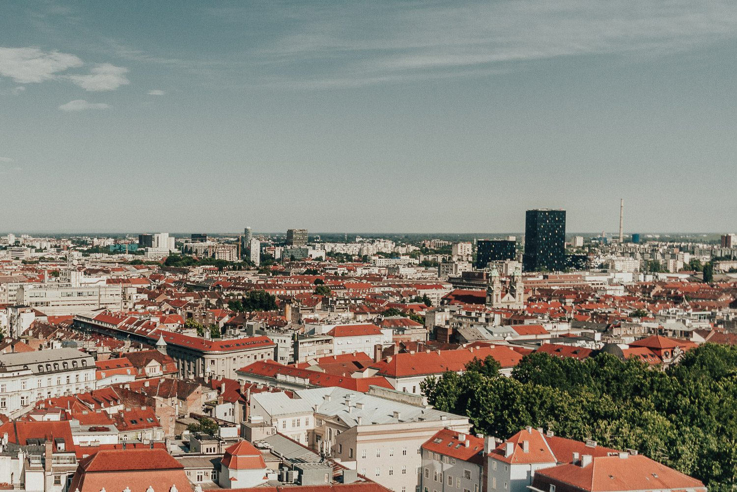 View from Zagreb 360 Eye Observation Deck