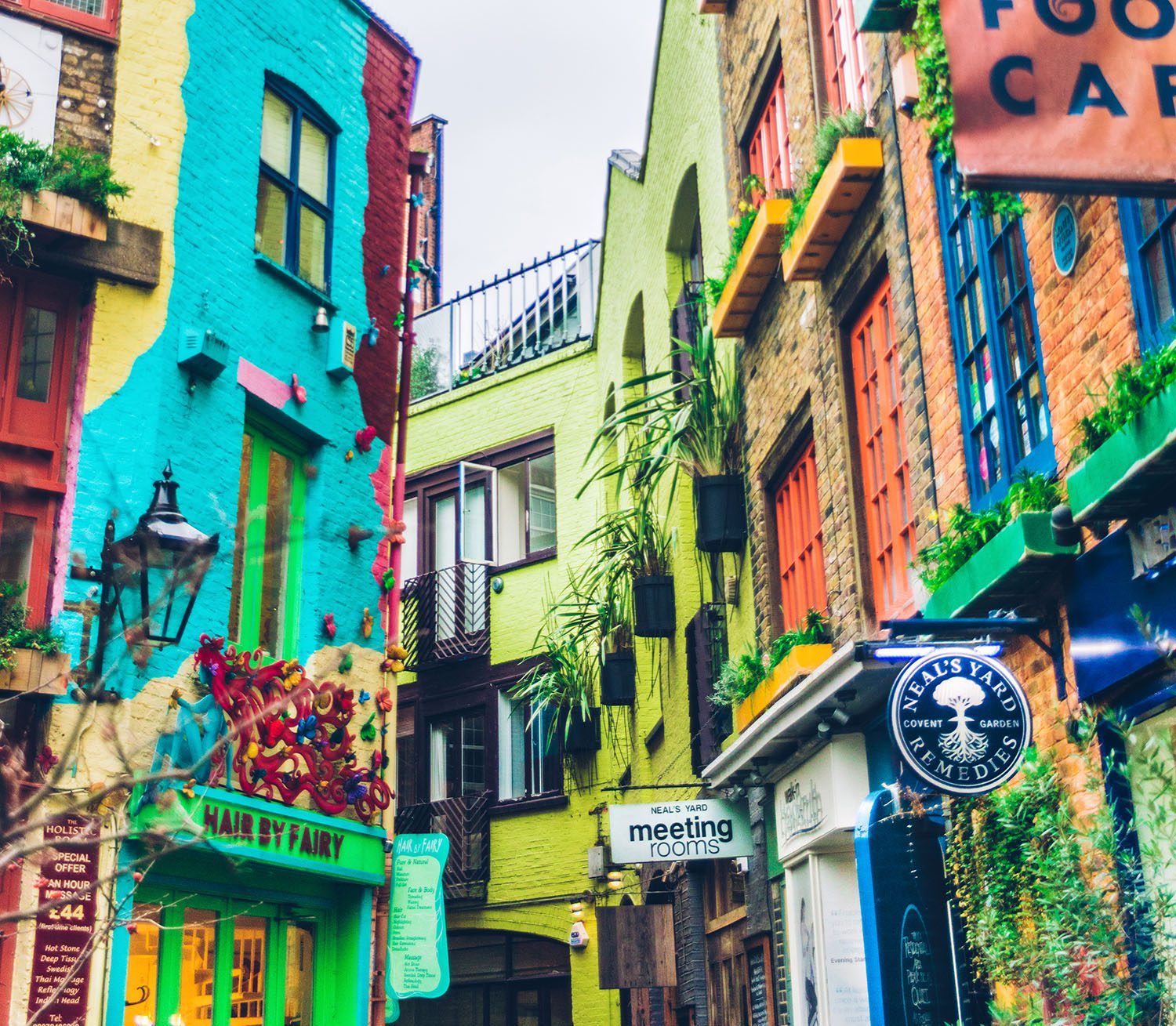 The Colorful Neal's Yard in Covent Garden, London