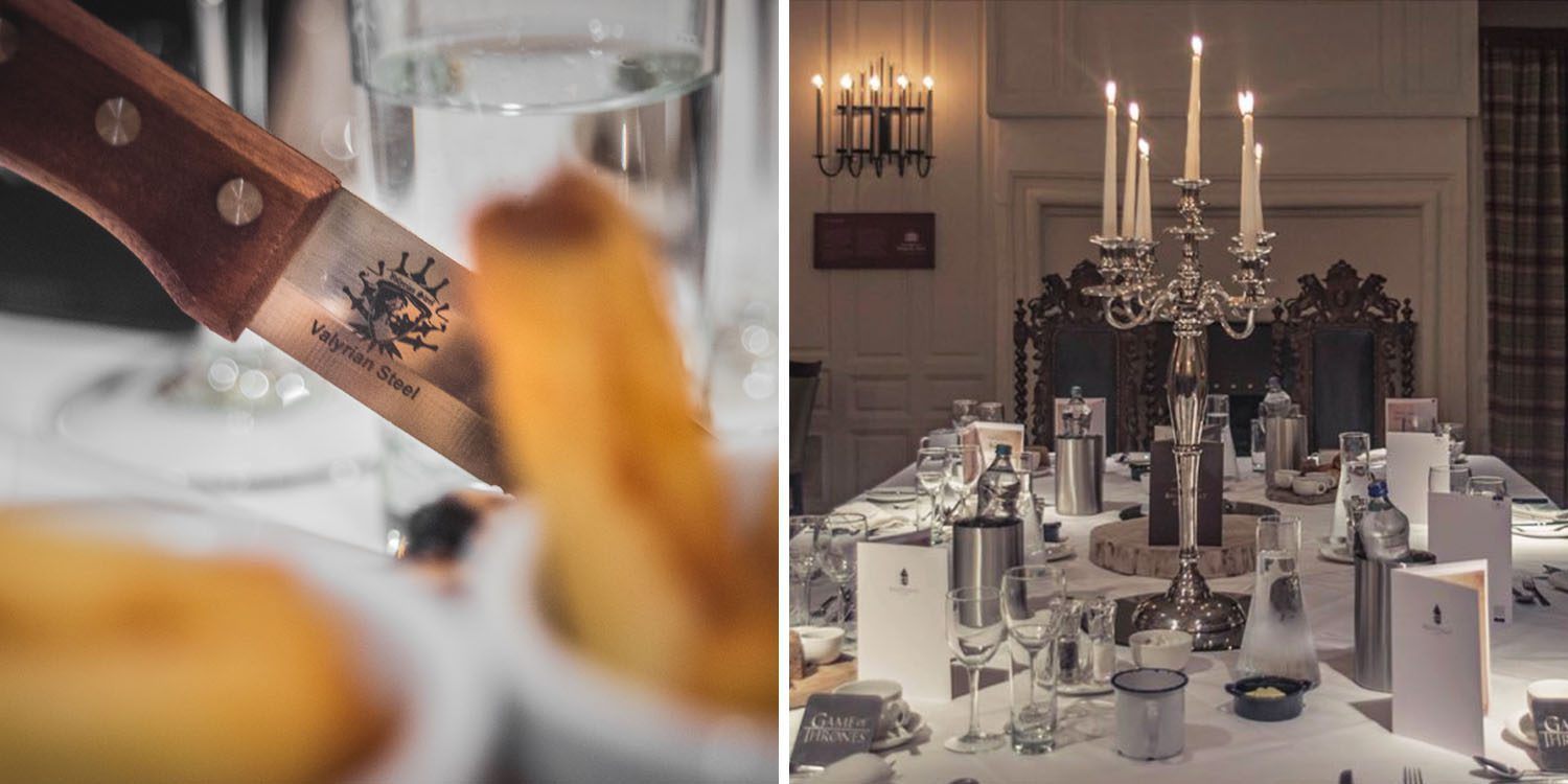 Dining with Valyrian steel at Ballygally Castle in Northern Ireland