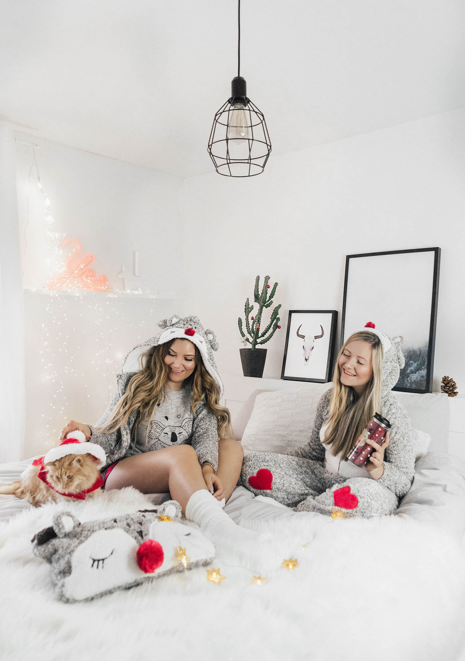 Oh deer - Cosy Christmas Outfits in Bed - Hunkemöller Cosy Collection 2017