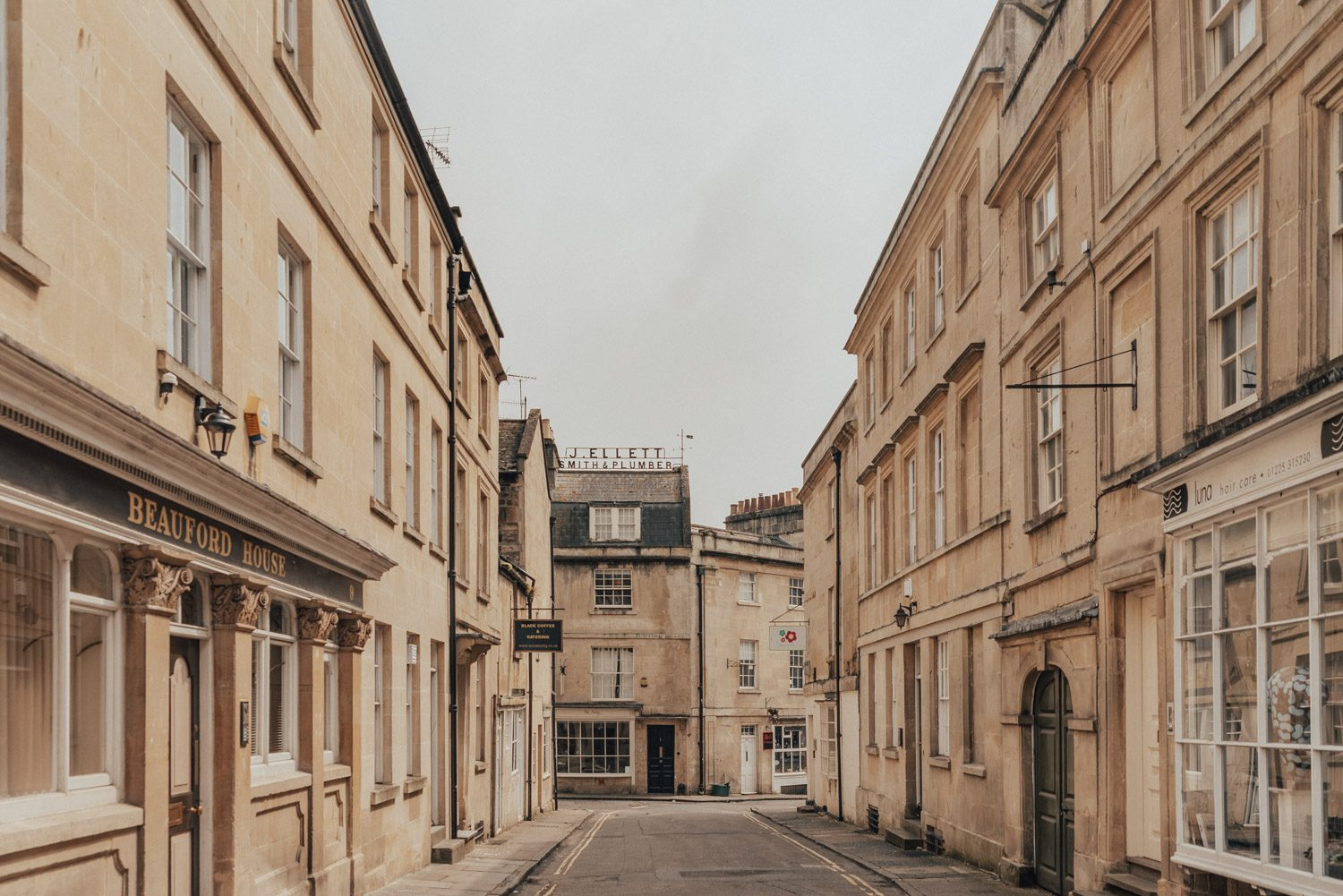 Honey-colored street in Bath, Somerset