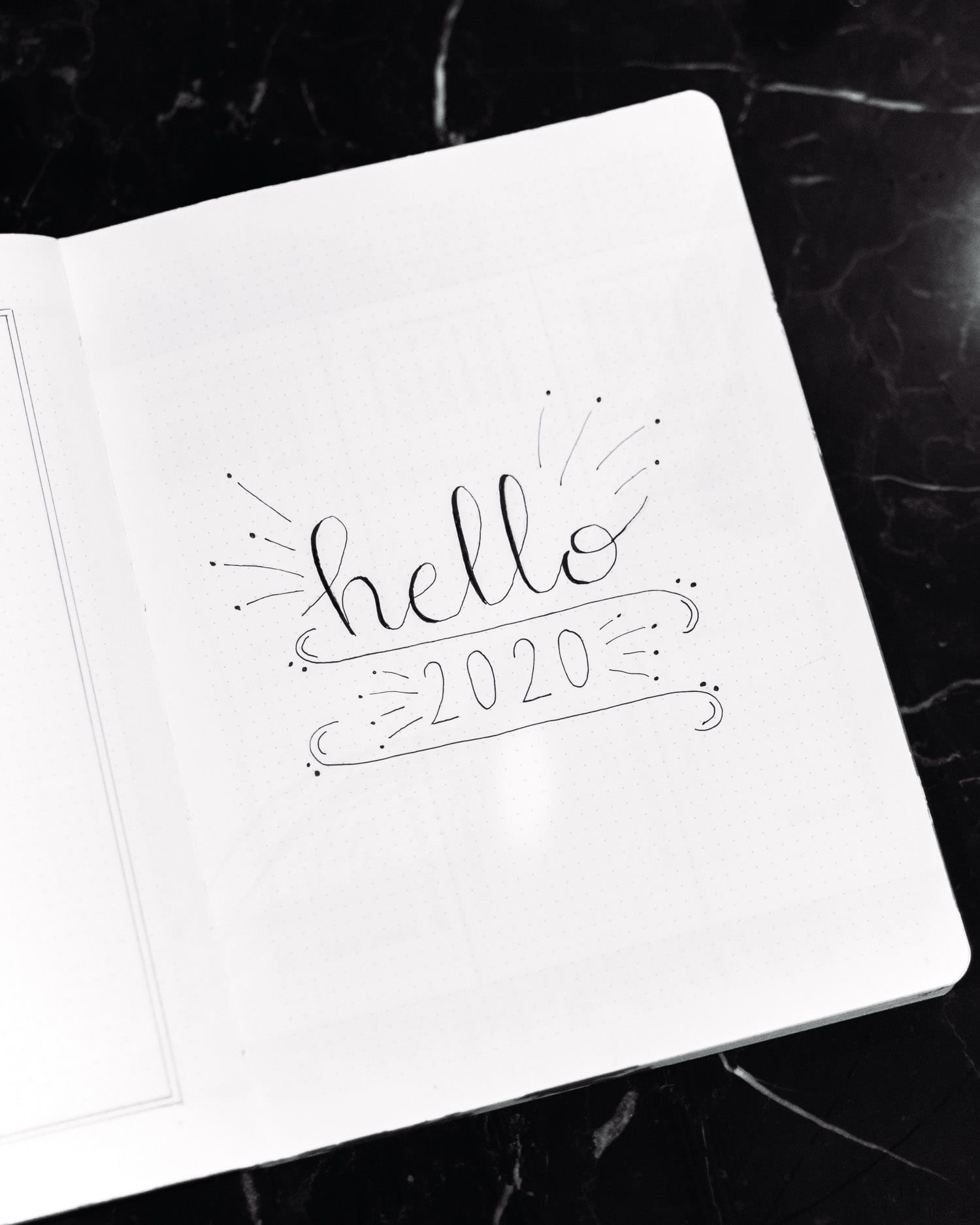 Hello 2020 - Minimalistic Bullet Journal Cover