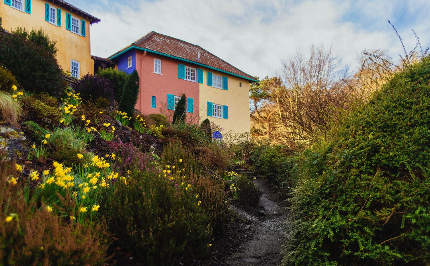 Colorful buildings in Wales