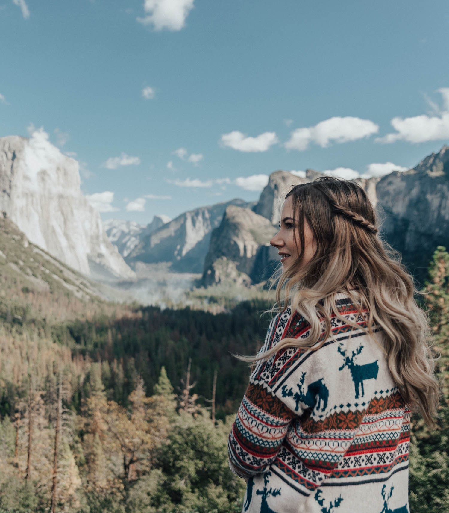 ADARAS Quick and Easy Hairstyles: Half Braided updo in Yosemite National Park