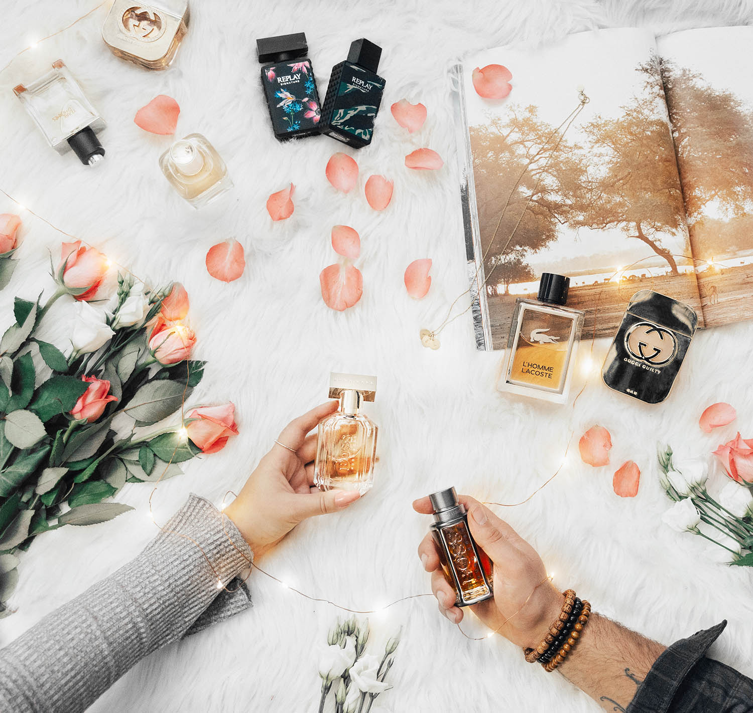 ADARAS Perfume Flatlay: The Best His and Hers Fragrances