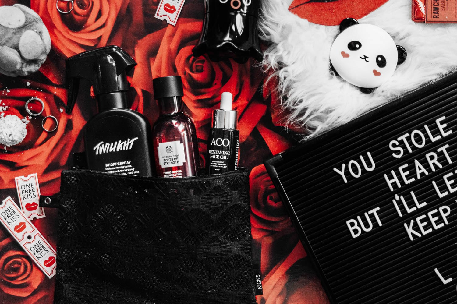 Flatlay: Last-Minute Valentine Gifts for Beauty Lovers (or yourself)