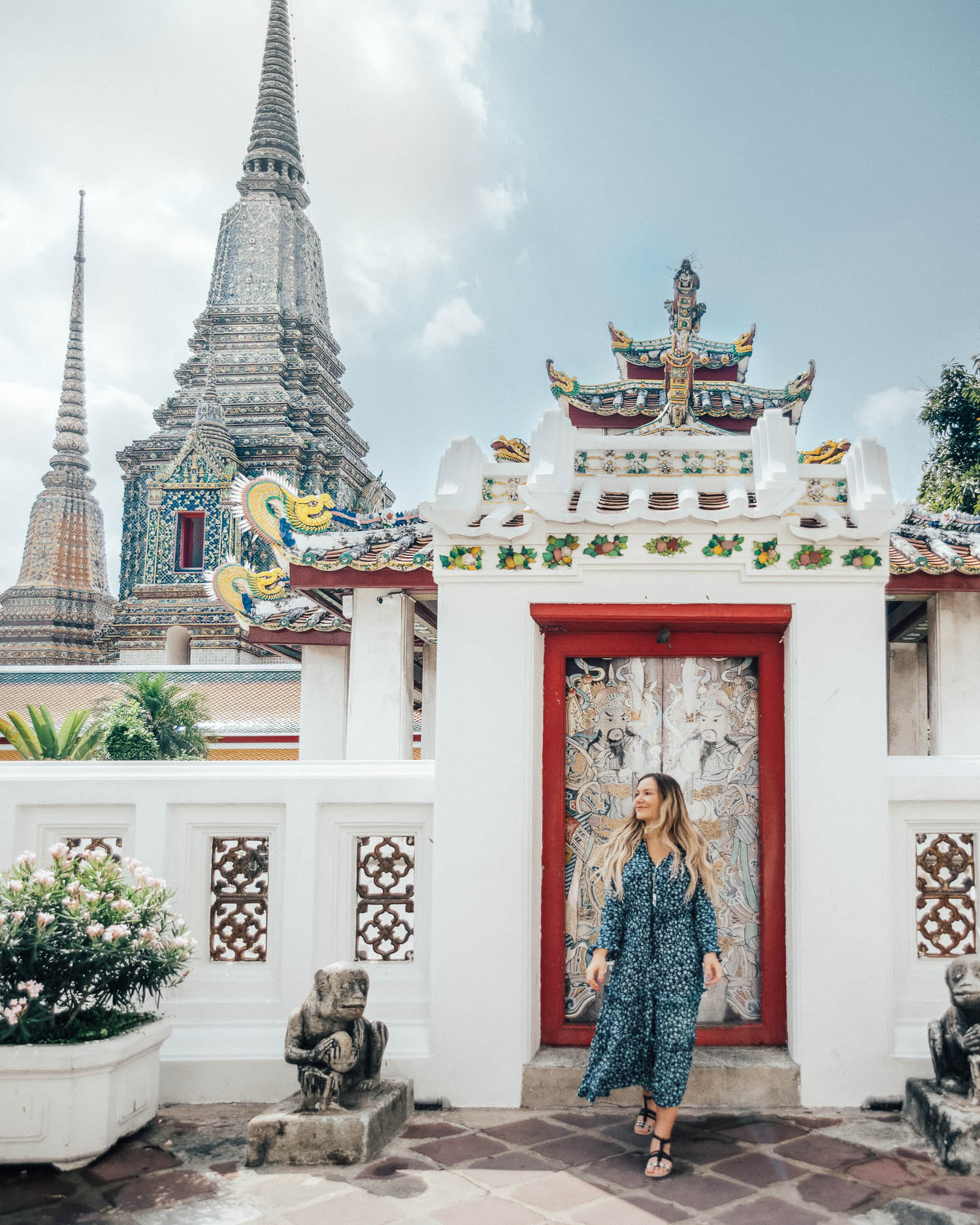 Adaras at Wat Pho in Bangkok, Thailand - What to wear when visiting temples