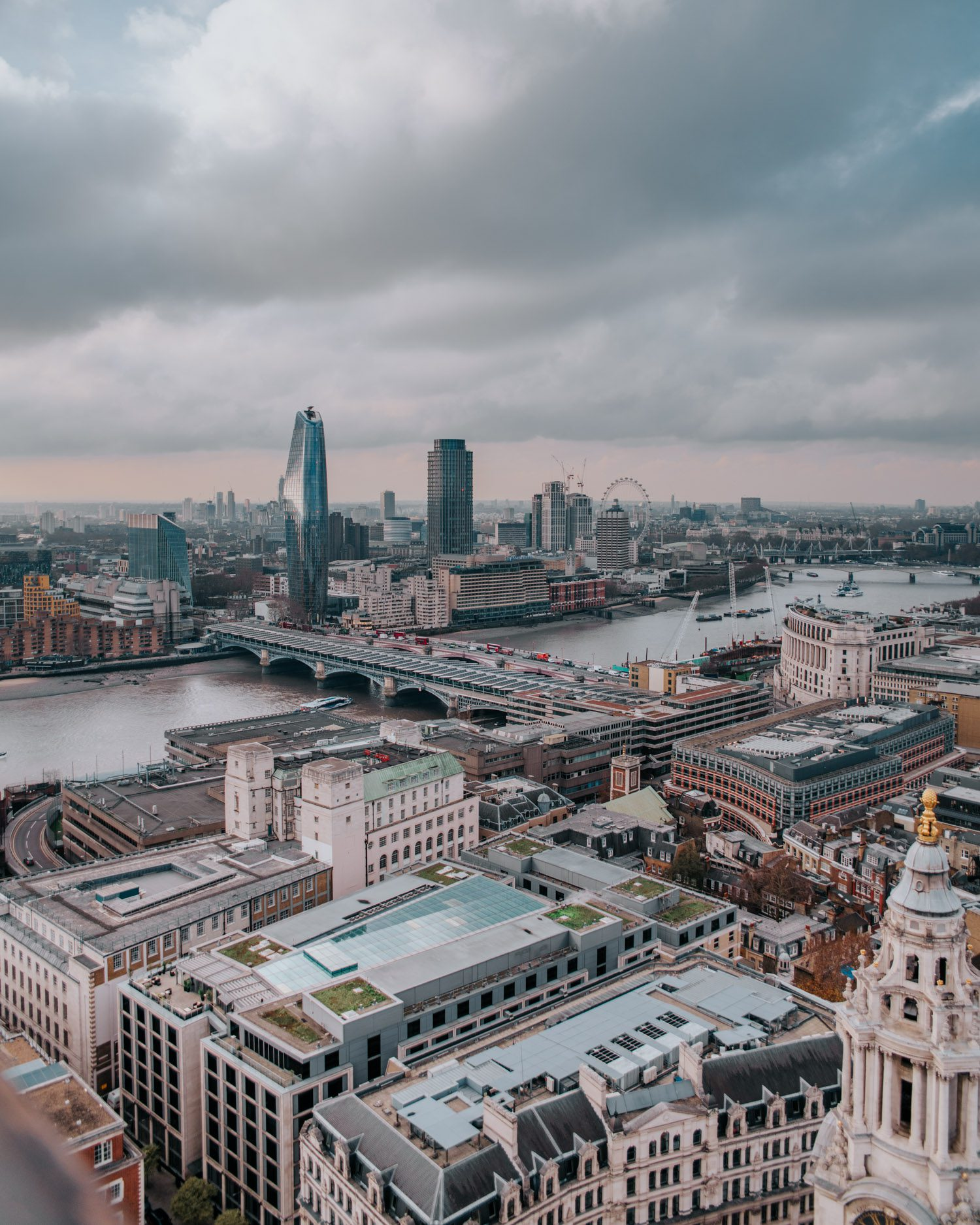 View from St. Paul's Cathedral in London